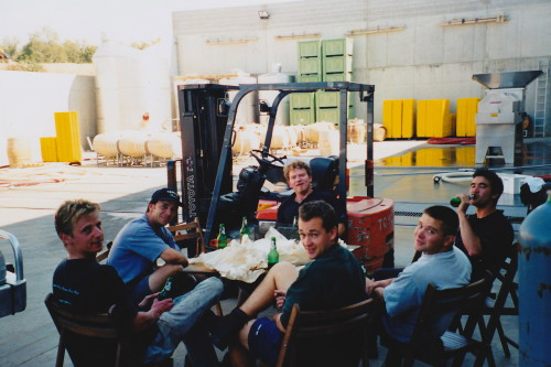 Yering Station Vintage 1999 The Crew Fueling up on Beer and Fish & Chips