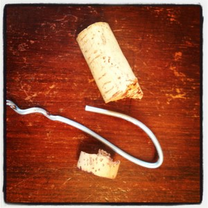 Wine Tip Getting a Broken Cork out of a Wine Bottle with a Coat Hanger