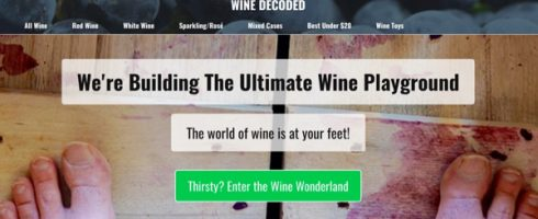 Wine Decoded Home Screen